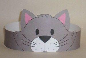 Cat (Gray) Crown - Printable