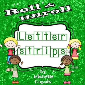 NEW PRODUCT 50% OFF UNTIL FRIDAY, JANUARY 24TH.  Are you looking for a NEW way to motivate your students to learn letters? Roll and Unroll the letter strips is fun for students because they can unroll the strips, sit on the floor and play with letters.