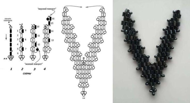Схема в картинках плетения браслетов из бисера