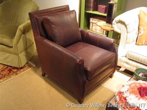 Brick Red Leather Chair Country Willow Furniture