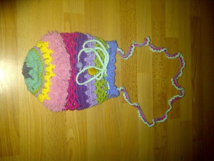 Zelfgemaakt tasje voor nichtje Gehaakt, crochet bag