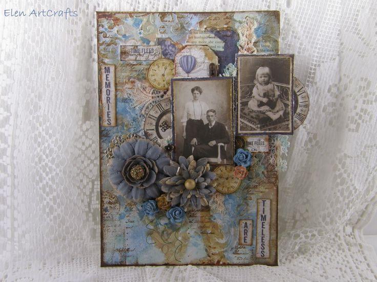 "Elen ArtCrafts: ""Memories are timeless..."" A vintage mixed media c..."
