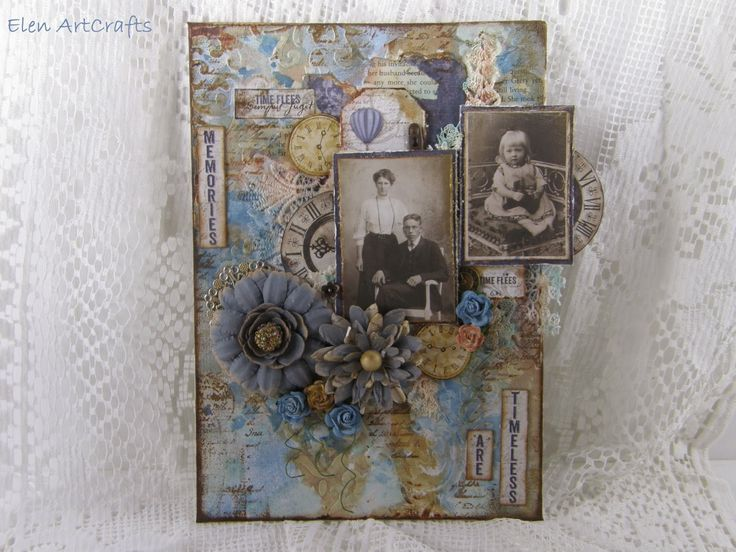 "Elen ArtCrafts: ""Memories are timeless..."" A vintage mixed media c..."