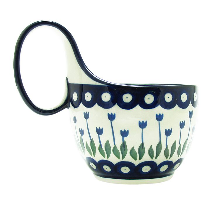 Polish Pottery 16 oz. Soup Chili Mug Handmade Boleslawiec Poland Traditional Pattern 845-377Z