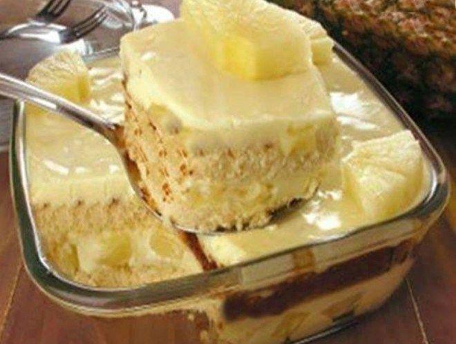Pave Pratico De Abacaxi Receitas Sobremesas E Sobremesas Deliciosas