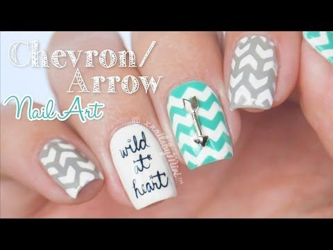 Chevron/Arrow Mix & Match Nail Art || Shop Keeki decals & Vinyl Quickies - YouTube