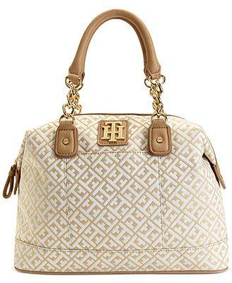 Tommy Hilfiger Handbag, Bombay Jaquard Bowler Bag