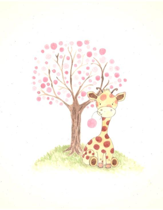 Giraffe Kindergarten Kunstdruck Baby Madchen Kindergarten