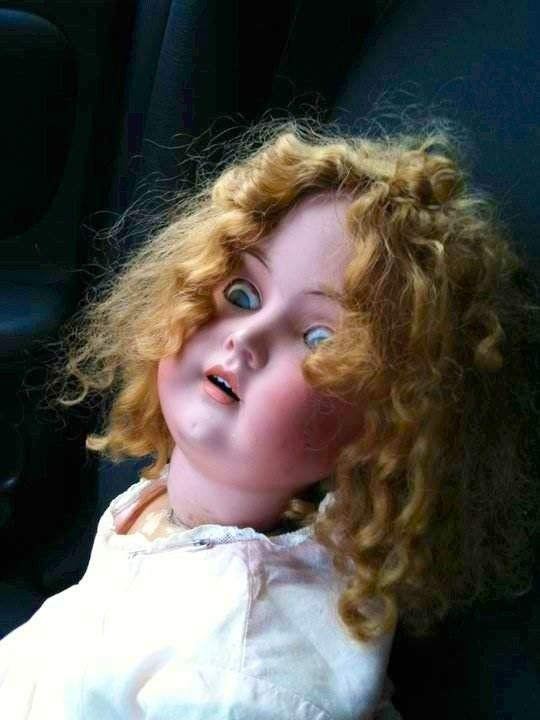 The things she's seen, on the other side.   The Creepiest Collection Of Doll Photos Ever Assembled