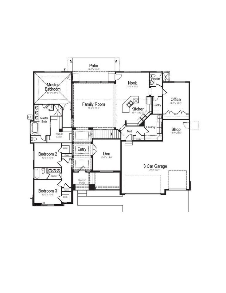 25 best ideas about rambler house plans on pinterest for House plans rambler
