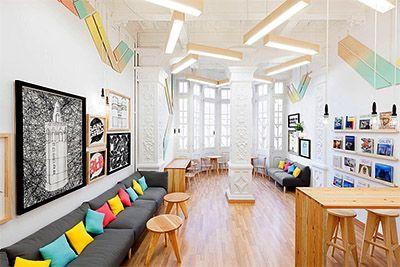 Language School Interior Branding Commercial Interior Design School Design Ideas