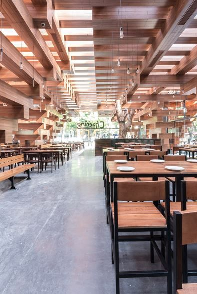 Cheering Restaurant H P Architects Architecture Pinterest And