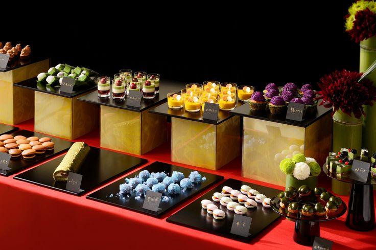 #NNOVARESE#desset#buffet#cake#wedding#party#japan#modan#red#black