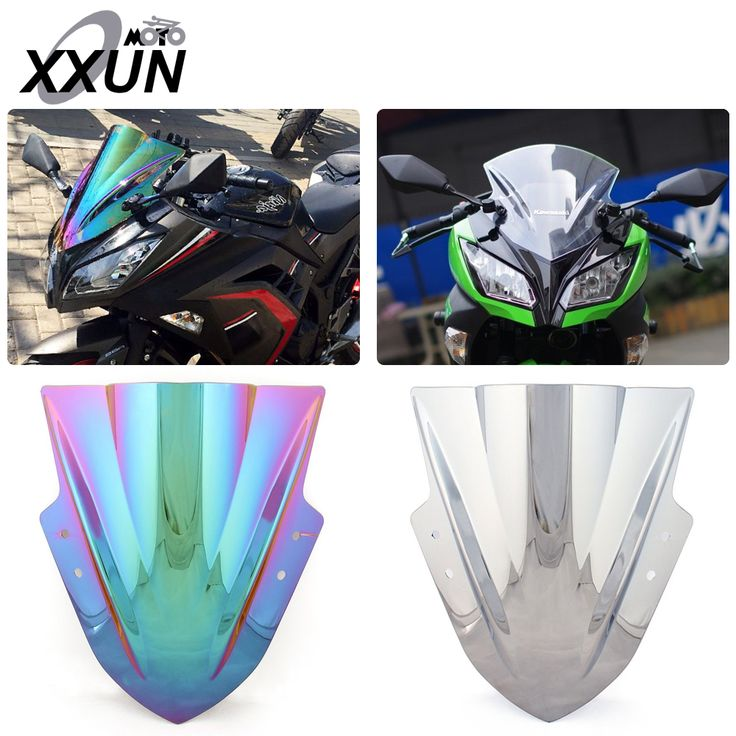 Multi color Windscreen Windshield for Kawasaki NINJA 300 300R EX300R 2013 2014 2015 2016 Motorcycle front windshield #Affiliate