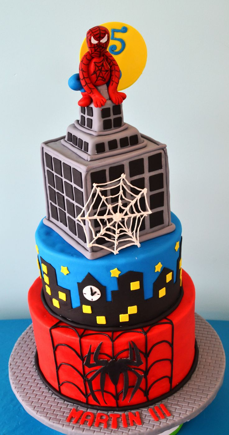 Spiderman Cake In 2019 Birthday Cakes Superhero Cake
