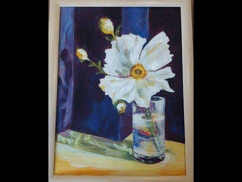 (22) Hogyan fess akrillal üvegvázát virággal? - YouTube