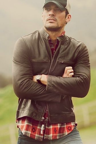 Winter Trends for Men | Biker Jackets | Layer Your Leather #plaid #biker #jacket
