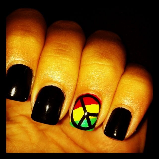 Rasta nail ideas for reggae festival