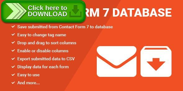 [ThemeForest]Free nulled download Contact Form Seven CF7 Database from http://zippyfile.download/f.php?id=40876 Tags: ecommerce, contact form, contact form builder, contact form db, contact form db shortcode, contact form shortcode, database, Export Contacts, export CSV, form db, form wizard, kontakt formular, save data contact form 7, save to database, web form, wordpress form
