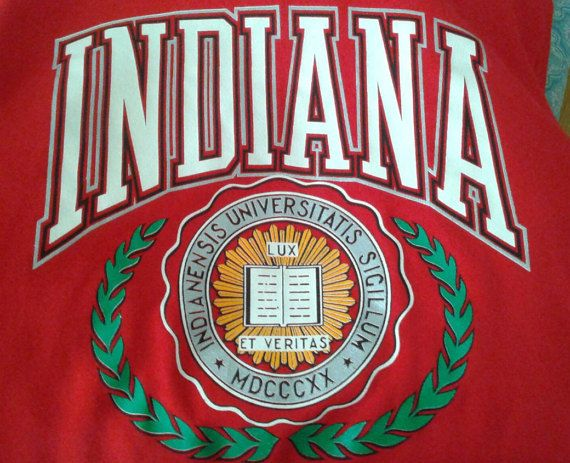 Vintage 1980's Indiana University IU Hoosiers Red