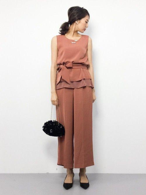 ZOZOTOWNm.yさんのドレス「Iラインセットアップパンツドレス【結婚式 ワンピース】(laboratory work ラボラトリーワーク)」を使ったコーディネート