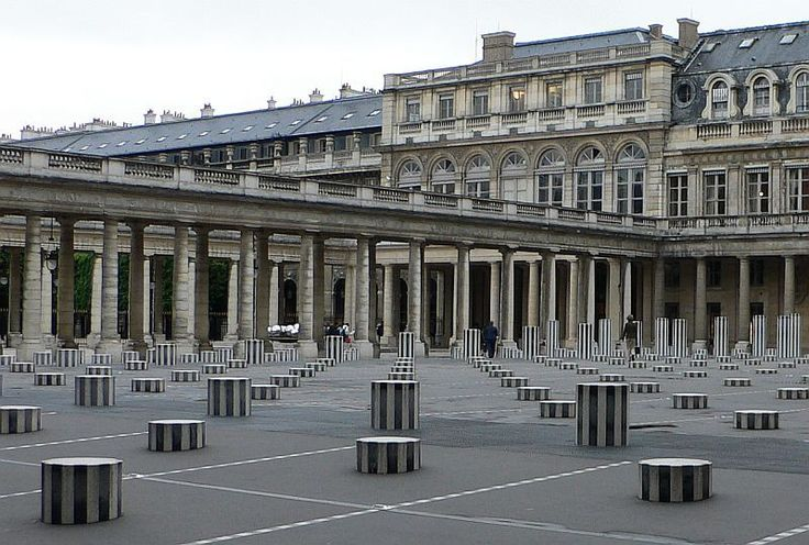 """Daniel Buren (1938 - ) Also known as the """"stripes guy,"""" he is a French conceptual artist who dismissed the painting as an object. He focused on painting as a wallpaper, and painted stripes on various inappropriate and controversialsettings/subjects"""