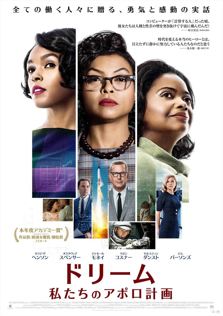 """In Japan Hidden Figures' titled as """"Dream: Our Apollo project"""" because 20 fox thought Japanese doesn't know mercury project."""