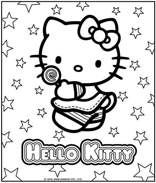 best hello kitty coloring pages-#19