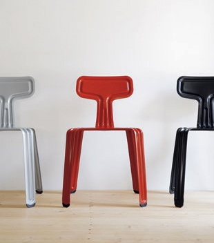 pressed metal furniture. PRESSED CHAIR - Punched And Scored From A Single Tin Plate Harry Thaler Pressed Metal Furniture