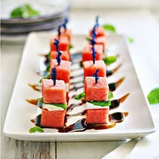 The perfect appetizer for Memorial Day or 4th of July! Watermelon and Feta Bites