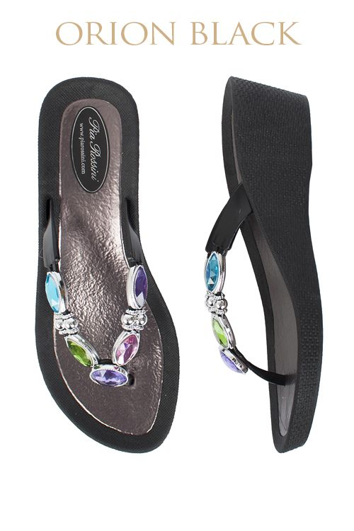 Orion Ultimate Pool Shoe - Black Base  Available from www.piarossini.com #PiaRossini #UltimatePoolShoe #Pool #Shoes #Sandal #Beach #Cruise #Comfort #Resort