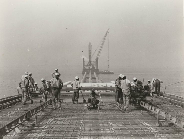This eye-opening collection of archival pictures tells the epic story of how the Chesapeake Bay Bridge-Tunnel was constructed and completed 50 years ago. -- Mark St. John Erickson