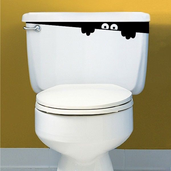 Toilet Monster Door Sign Funny Toilet Door Sticker Toilet Sign Sticker in Home & Garden, Home Décor, Decals, Stickers & Vinyl Art   eBay
