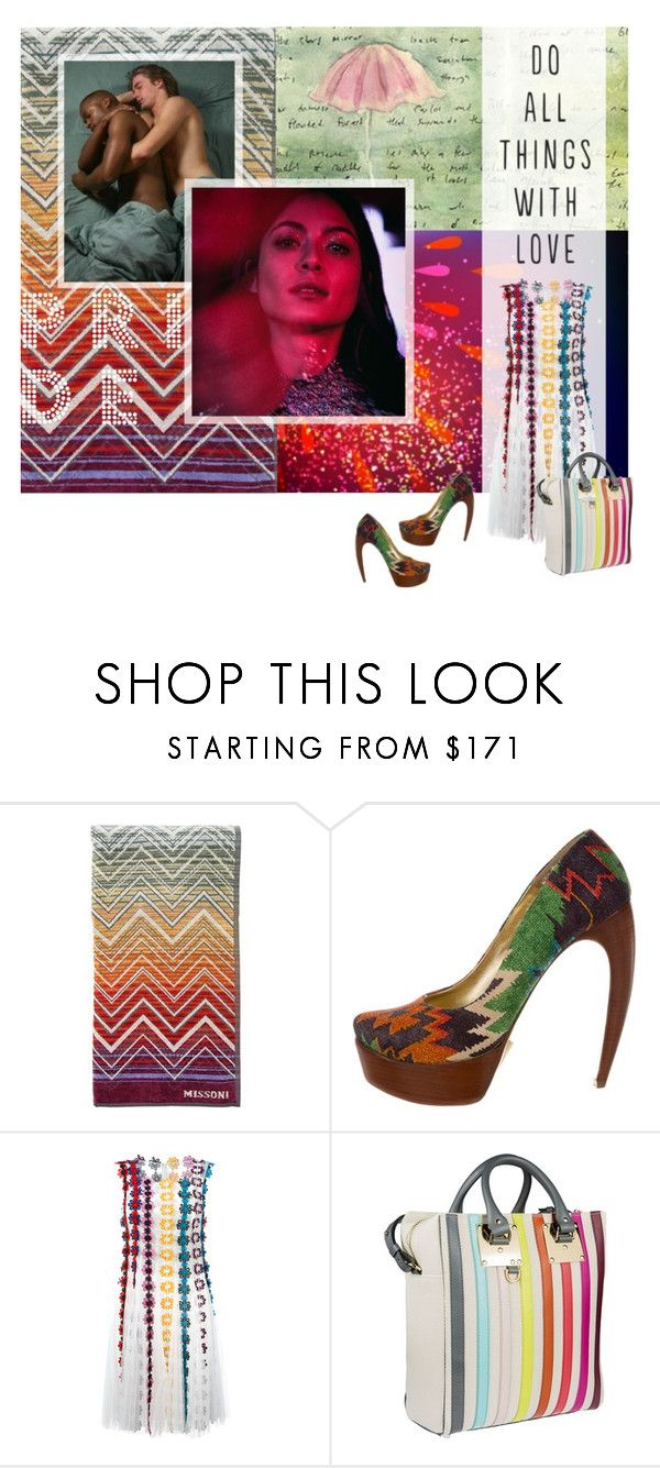 """all things with love"" by meadowbat ❤ liked on Polyvore featuring Missoni, Walter Steiger, Moleskine, Mary Katrantzou, Sophie Hulme and pride"