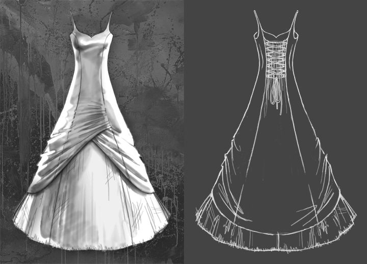 how to make a wedding dress pattern