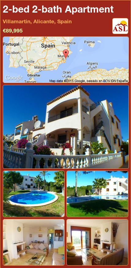 2-bed 2-bath Apartment in Villamartin, Alicante, Spain ►€89,995 #PropertyForSaleInSpain