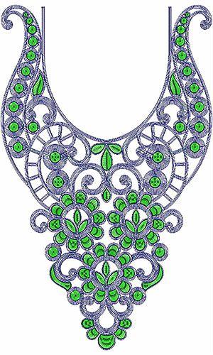 Saudi Arabian Neck Embroidery Design