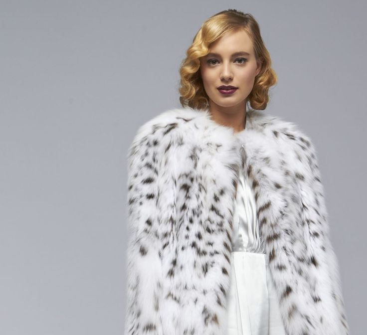 White lynx coat