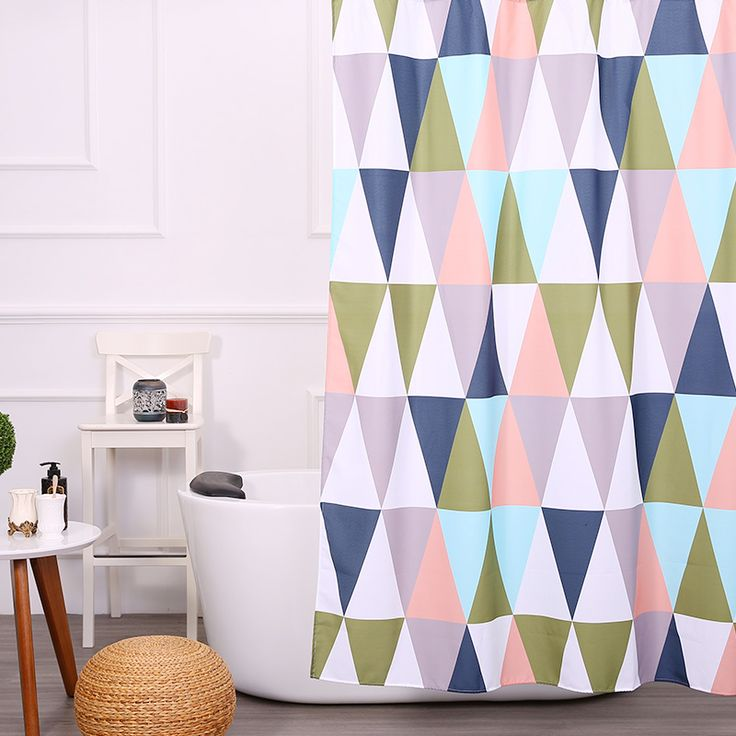 71*71 Colorful Western Fabric Waterproof Bathroom Products Clear Shower Curtain Liner With Hooks