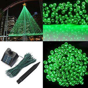 SOLMORE 17M Guirlande Solaire 100 LED Festival Décoration de Noël/Fête/Soirée/Mariage/Maison/Jardin/Pelouse/Extérieur/Intérieur (Vert…
