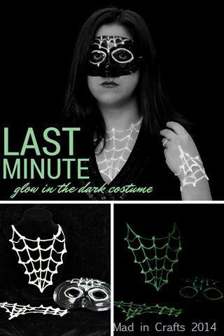Last Minute Glow in the Dark Halloween Costume