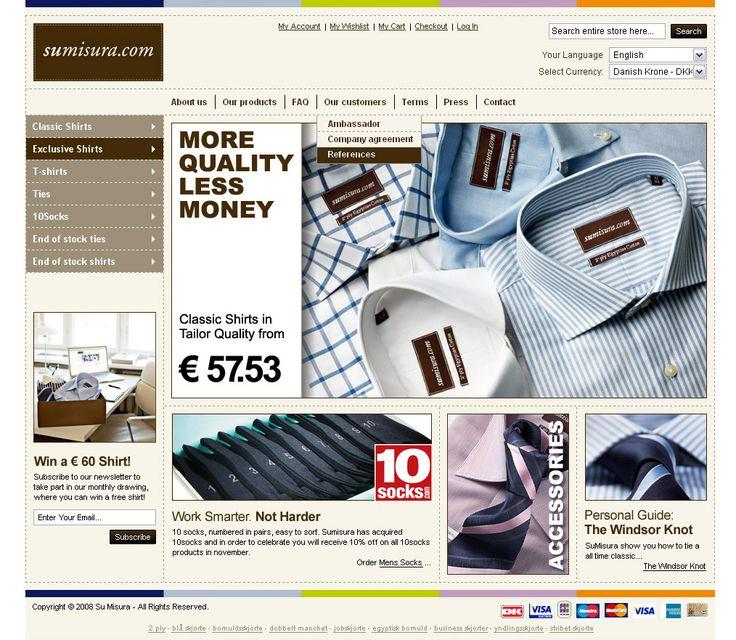 Sumisura  Webshop der forhandler skræddersyede skjorter.