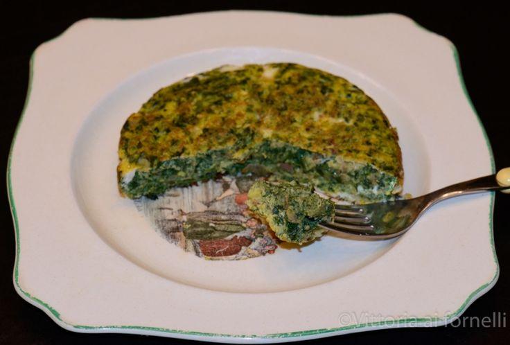 Frittata di ortiche cipolla e formaggio - Ricette Blogger Riunite