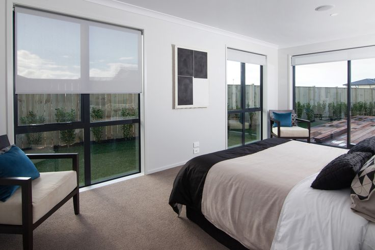 Lots of glass to take in your surroundings, from the master bedroom.
