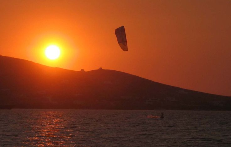 Kitesurfing mecca, travel writing episode. Paros, Greece