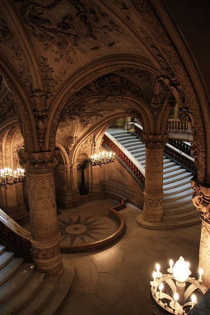 Inside Opera Garnier, Paris. Great compass rose inlay! ♒ www.pinterest.com/WhoLoves/Beautiful-Buildings ♒  #Architecture