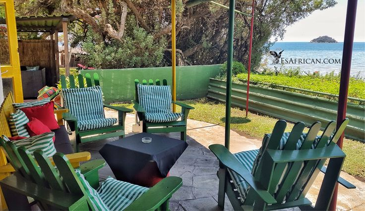 Seating next to the lounga and the bar at Cool Runnings