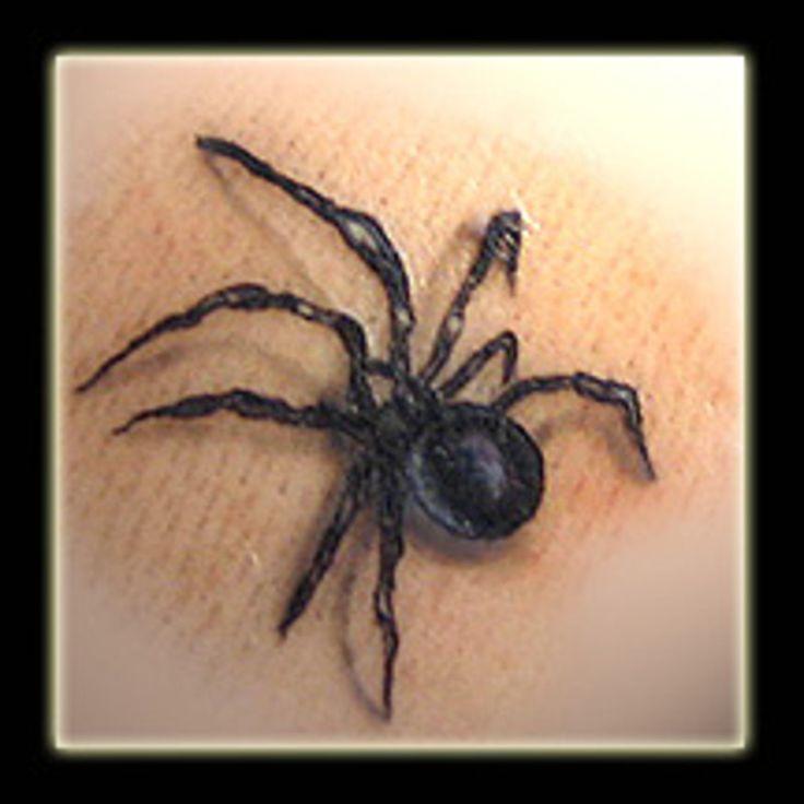 Black Widow Neck Tattoo Designs