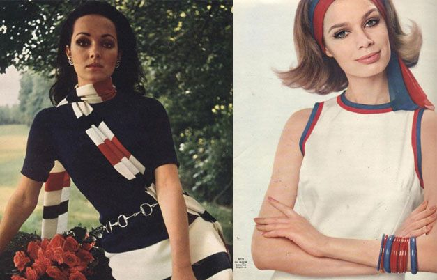 Морской стиль в одежде: модели Burda c 1950-х до наших дней #burdastyle #burda #мода #fashion