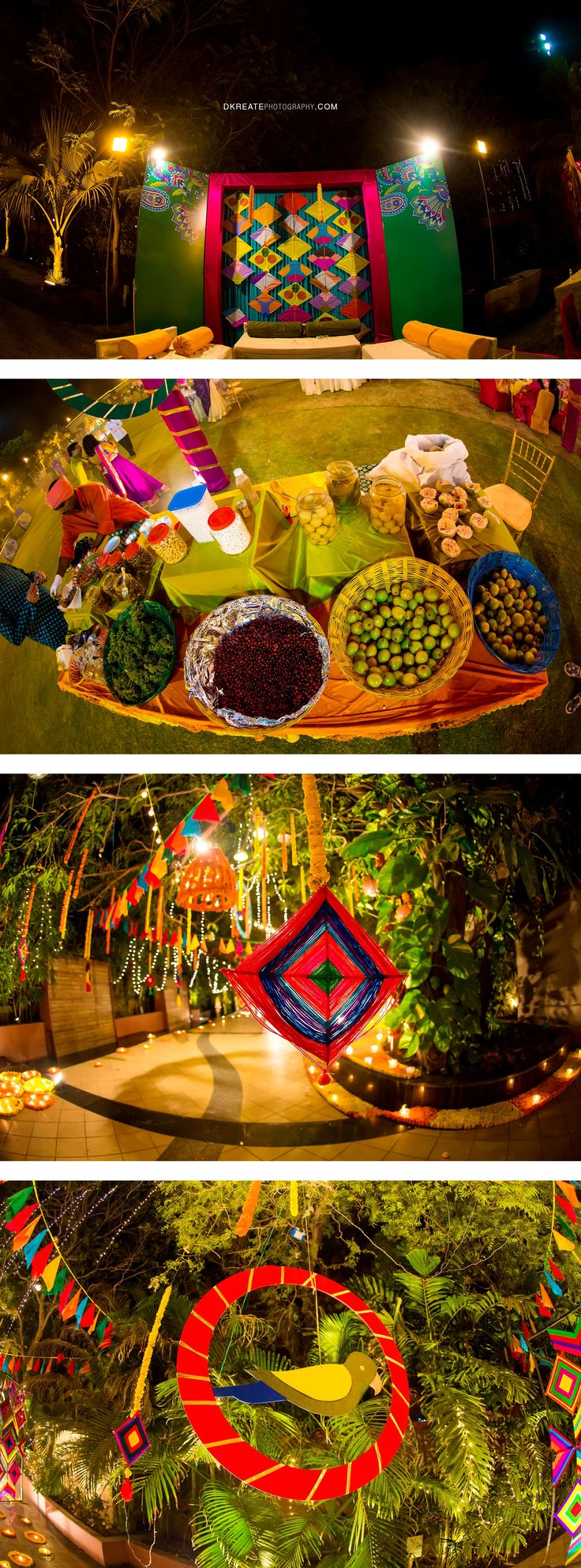 Indian wedding backdrop ideas. Colorful. Mela themed. Colorful woollen thread…